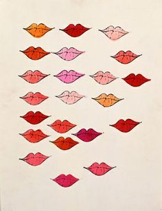 lips (stamped) andy warhol