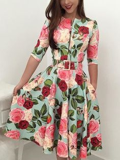 Women Bandage Bodycon Long Sleeve Short Mini Floral Party Casual Dress Ladies Floral Chic Summer Dresses Size S Color 3 to 4 sleeve - - Source by dorinafiedler Modest Dresses, Cute Dresses, Vintage Dresses, Casual Dresses, Summer Dresses, Elegant Dresses, Sexy Dresses, Pleated Dresses, Casual Outfits