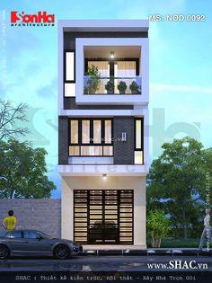 Mẫu nhà phố 3 tầng kiểu hiện đại. Cấu trúc mặt tiền ...