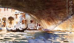 Sargent: Under The Rialto Bridge - reproduction oil painting