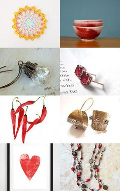 Something red, something tan  by Eleni Athini on Etsy--Pinned with TreasuryPin.com