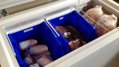 How To Easily Access Stuff At The Bottom Of A Deep Freezer