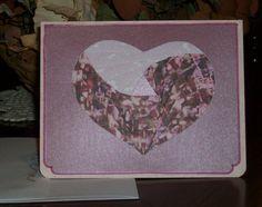 Heart IrisFolded Card by FoldsWithLoveByHolly on Etsy, $4.00