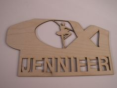 Personalized Ballet Shoe with Ballerina,Laser Cutouts,Unfinished Wood,Home Decor