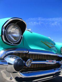 Blue Chevrolet Bel Air Photo - Classic Car Art - Retro Home Decor - Turquoise… Chevrolet Bel Air, 1957 Chevy Bel Air, Chevy Classic, Classic Cars, My Dream Car, Dream Cars, Surf Style Home, Cadillac, Man Cave Wall Art