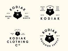 Kodiak by Peter Komierowski on Dribbble Typography Logo, Logo Branding, Graphic Design Typography, Branding Design, Typographic Design, Corporate Branding, Brand Identity, Clothing Brand Logos, Clothing Branding