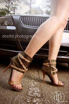 Stopping traffic. Photo for shoe store ad and retail display