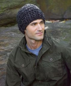 Image of Perfectly Simple Crochet Hat Free Pattern Lion Brand® Wool-Ease® Thick & Quick®