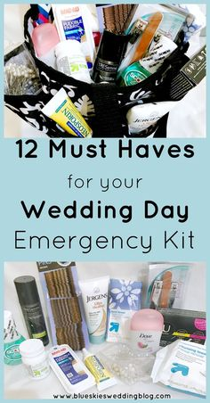 Every bride needs a wedding day emergency kit. Pulling together your kit can be quick and simple. Are you ready for wedding day emergencies? Wedding Planning Tips, Budget Wedding, Wedding Tips, Wedding Blog, Wedding Events, Wedding Day, Wedding Planner, Wedding Stuff, Wedding Hacks