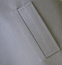 Мастер-класс. Прорезной карман с накладной прямой листочкой.