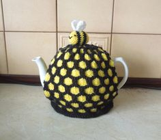 Hand made beehive knitted teapot tea cosy . by CraftyCornishMaids