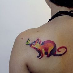 Awesome rat tattoo