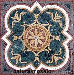 "20"" GEOMETRIC MARBLE MOSAIC FLOOR WALL TABLE ART TILE 