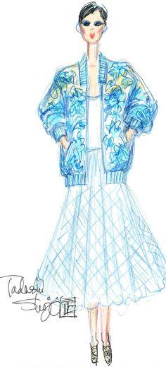TADASHI SHOJI |  Tadashi Shoji's spring line drew inspiration directly from memories of Japan.