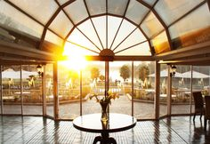 Breaking dawn at Riviera on Vaal. River Restaurant, Floating Restaurant, Morning View, Early Morning, Breaking Dawn, Ceiling Lights, Table Decorations, South Africa, Home Decor