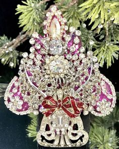 Stunning Art Deco & Clear Vintage Rhinestone Christmas Tree Pin Brooch LaHeir    eBay