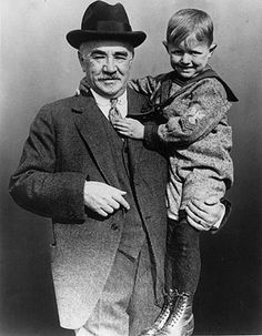 Milton Hershey with one of his students at the Milton Hershey School.