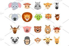 Funny exotic animals by Mark2000 on @creativemarket