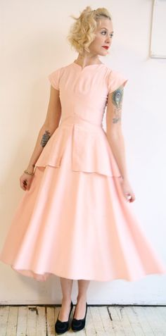 1940s dress // vintage 1940s dress // Be Mine by dethrosevintage, $132.00