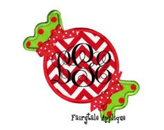 Digital Machine Embroidery Design - Christmas Candy Applique