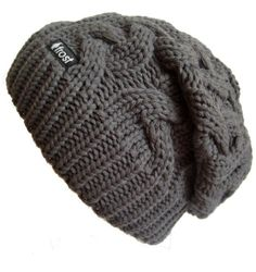 cd54f31b451 Check out this Frost Hats Winter Hat for Women CHARCOAL Slouchy Beanie  Cable Hat Knitted Winter Hat Frost Hats One Size Charcoal that I found on  Ziftit.