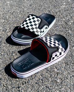 Vans Shoes was established in 1966 when Paul Van Doren and three partners opened their first store in Anaheim, California. Adidas Slides, Mens Slippers, Fashion Sandals, Shoe Game, Vans Shoes, Slide Sandals, Sneakers, Ciabatta, Flip Flops