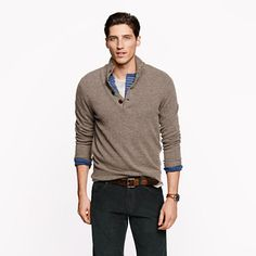 Lambswool mockneck sweater  A Very Secret Pinterest Sale: 25% off any order at jcrew.com for 48 hours with code SECRET.