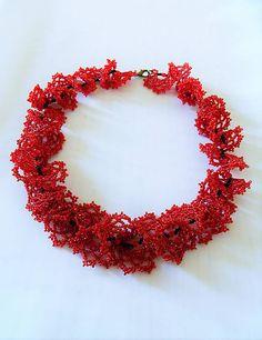 alzbetina / Náhrdelník Červená ruža