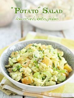 Low-carb Potato Salad (paleo, keto)