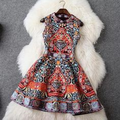 Elegant jacquard vest dress..