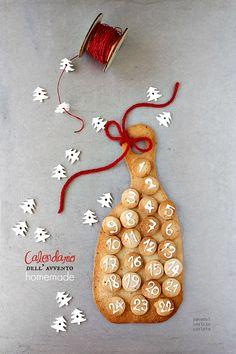 Calendario dell' avvento in Pasta Frolla ricca alle nocciole
