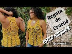 Regata de Crochê Estilo Nadador - YouTube
