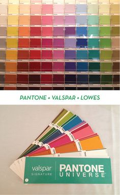 COLOR WITH CONFIDENCE: PANTONE + VALSPAR + LOWE'S