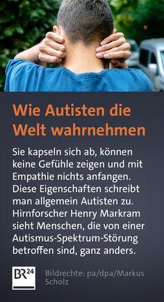 Sie kapseln sich ab, können keine Gefühle zeigen und mit #Empathie nichts anfangen. Diese Eigenschaften schreibt man allgemein #Autisten zu. Hirnforscher Henry Markram sieht Menschen, die von einer #Autismus-Spektrum-#Störung betroffen sind, ganz anders. Writing, Knowledge, World Autism Day, People, Health