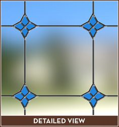 Monterey Bay Stained Glass Window Film, See Through