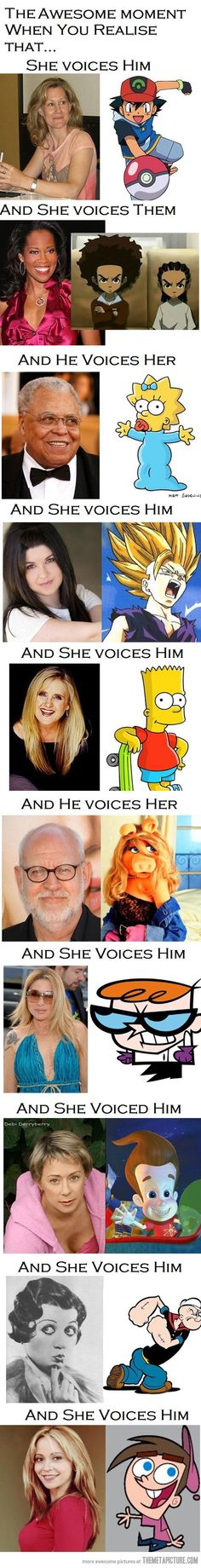 Funny pictures about Voice actors. Oh, and cool pics about Voice actors. Also, Voice actors photos. Powerpuff Girls, Weird Facts, Fun Facts, Crazy Facts, Random Facts, Geeks, Childhood Ruined, Up Book, When You Realize