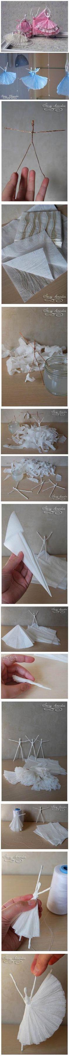 DIY Napkin Paper Ballerina by de_rose