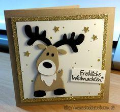 cards x-mas,  Rudolph