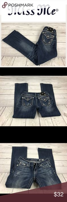 """Miss me With Little Bling.  Sz 27 Miss me With Little Bling.  Sz 27. Waist 13.5"""". Inseam 29"""". Rise 7"""".  In good shape.  They have been professionally hemmed. Miss Me Jeans Boot Cut"""