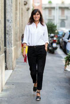 Emmanuelle Alt ... Milan Fashion Week Spring/Summer 2015