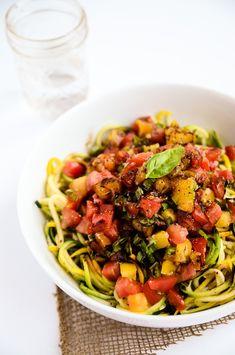 Heirloom Tomato, Basil & Balsamic Zucchini Noodles