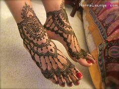 Henna feet by HennaLounge, via Flickr