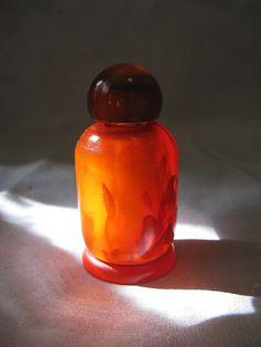 Rootbeer Bakelite 3 Perfume Bottle Vintage by TheInstantMemory