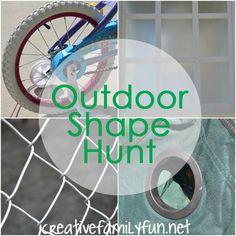 Outdoor Shape Hunt ~ Creative Family Fun