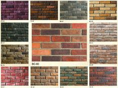 There are different types and colors of brick Exterior Color Schemes, Exterior Paint Colors, Exterior House Colors, Types Of Bricks, Different Types Of Houses, Brick Veneer Siding, Metal Roof Houses, Masonry Construction, Brick Architecture