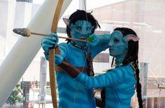 couples halloween costumes Avatar movie inspired couple costume idea