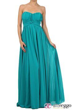 #Vestido #graduaciones #verano #2014 #turquesa #turquoise #party #fiesta #noche #largo #maxidress #dress #nigth #strapple#chiffon