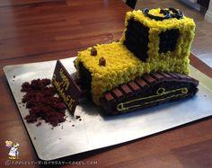 Coolest 3rd Birthday Bulldozer Cake... Coolest Birthday Cake Ideas