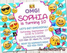 Emoji Invitation Emoji Birthday Emoji Party by InstaInvitesPro …