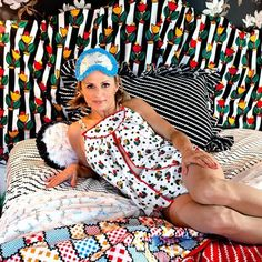 Did you know comedian Amy Sedaris has a fabric line with Windham fabrics? I love Amy's style, she always has the cutest dresses on, and. Amy Sedaris, Windham Fabrics, Polka Dot Fabric, Bias Tape, Best Selling Books, Sewing Clothes, Like Me, Cute Dresses, Vintage Fashion